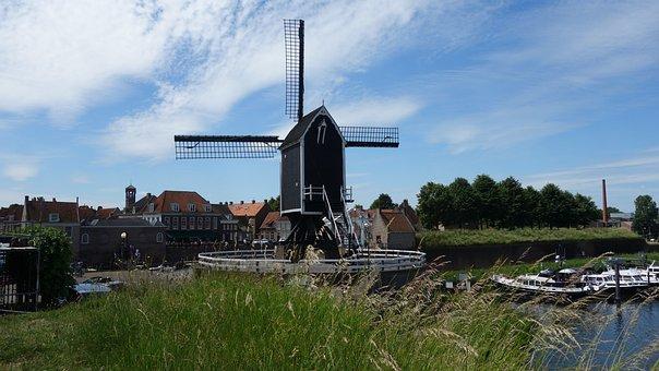 Mill, Wicks, Netherlands, Wind Mill, Historic Building