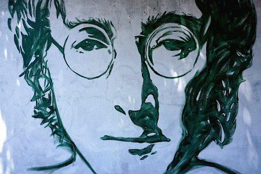 John Lennon, Street, Art, Graffiti, Verona, Italy
