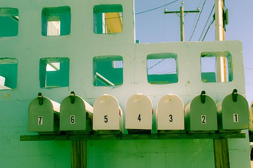 Green, Mailbox, Yellow, Numbers, Letters