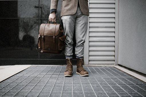 People, Man, Travel, Fashion, Clothing, Leather, Bag