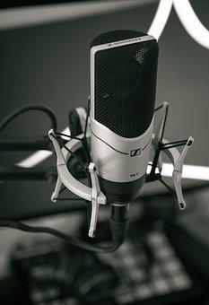 Black And White, Microphone, Filter, Music, Studio