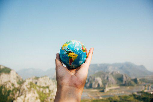 Globe, Global, Map, Round, Colorful, Outdoor, Hand