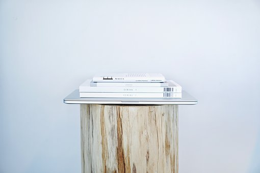 Book, Wooden, Table, Pen, Study, Wall, Plain