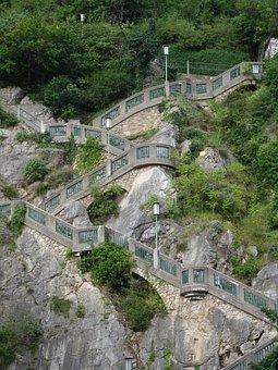 Stairs, Staircase, Up, Rise, Upward, Graz, Schlossberg