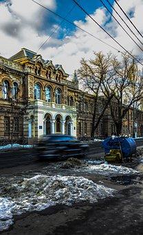 Odessa, Building, Machine, The Trash, Sky, Clouds