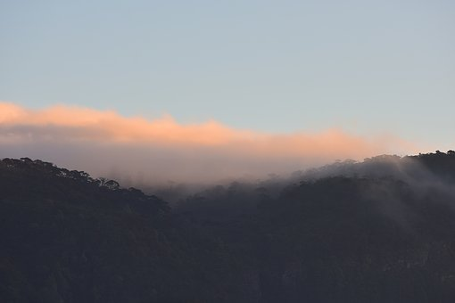 Mountain, Nature, Landscape, Fog, Clouds, Top View
