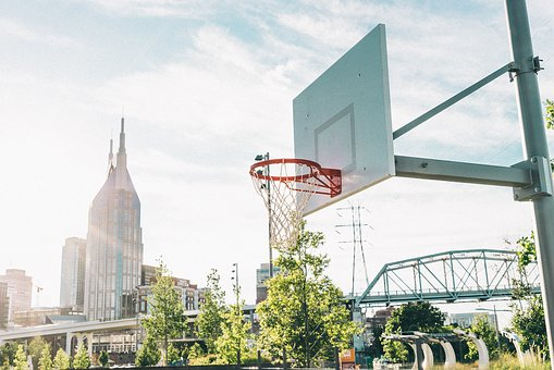 Basketball, Sport, Game, Ring, Tree, Plant, Building