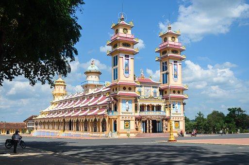 Religion, Cao Dai, Tay Ninh, The City, Asia, Vietnam