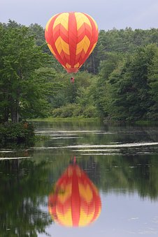 Ballooning, Water, Nature, Outdoor, Air, Sky, Travel