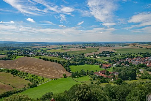 Ronneburg, Hesse, Germany, Castle, View, Outlook