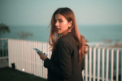 People, Woman, Beauty, Fashion, Cellphone, Iphone