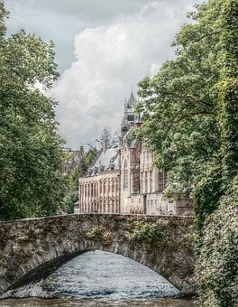 Bruges, Canal, Romantic, Historically, Channel