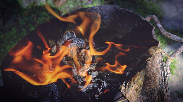 Fire, Flame, Wood, Charcoal, Ash, Smoke, Heat, Steel