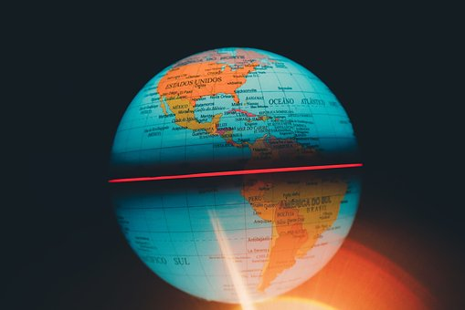 Globe, Global, Map, Round, Sphere, Colorful, Blur