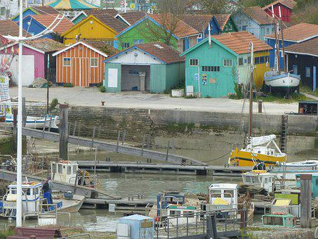Island Of Oleron, Cabins, Port, Boats, Fishing, Oyster