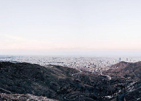 Buildings, Road, Landscape, City, Urban, View, Sky