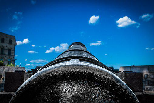 Steel, Old, Rusty, Antique, Barrel, Cannon, Wood