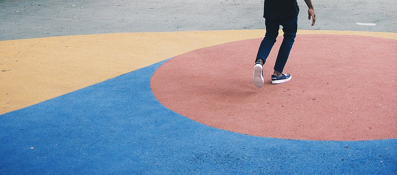 People, Man, Court, Sneakers, Shoes, Sole, Plants