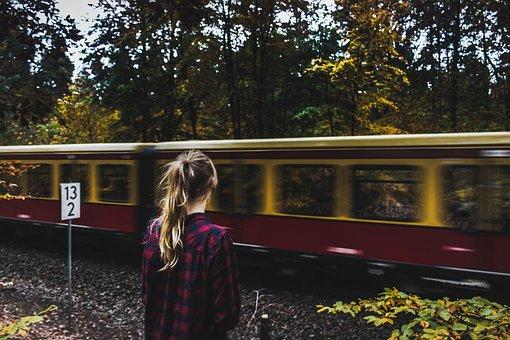 People, Woman, Train, Station, Rail, Trail, Nature