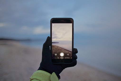 Phone, Cellphone, Apple, Iphone, Black, Nature