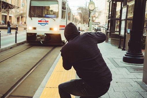 People, Man, Black, Train, Trail, Rail, Vehicle