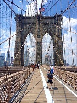 Brooklyn Bridge, Manhattan, Nyc, United America, Usa