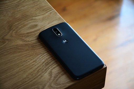 Mobile, Cellphone, Camera, Wooden, Table, Black, Light