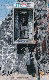 Telephone, Phone, Damage, Old, Wreck, Abandoned