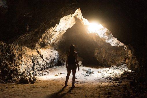 People, Travel, Adventure, Cave, Light, Rocks