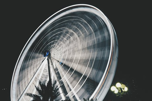 Ferris Wheel, Amusement Park, Architecture