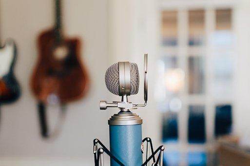 Microphone, Condenser, Blue, Recorder, Filter, Sound