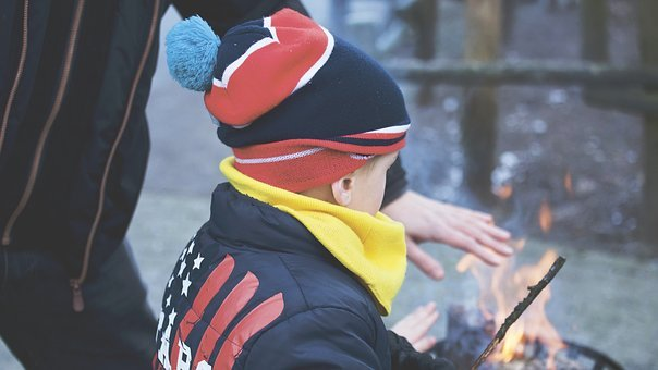 People, Child, Man, Woman, Boy, Fire, Smoke, Heat, Warm