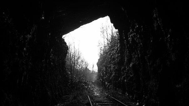 Nature, Landscape, Train, Trail, Rail, Tunnel