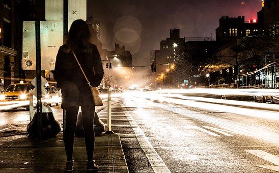Road, Street, Travel, Adventure, People, Dark, Night