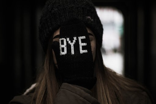 People, Woman, Bye, Gloves, Cold, Weather