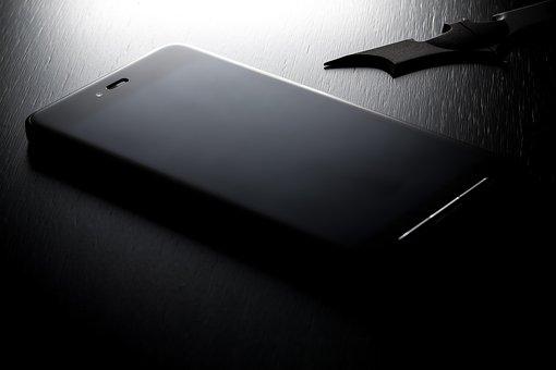 Phone, Cellphone, Apple, Iphone, Black, Dark