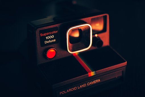 Polaroid, Camera, Photography, Technology, Dark, Night