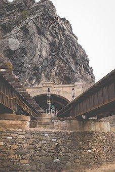 Rocks, Stone, Infrastructure, Bridge, Trail, Rail
