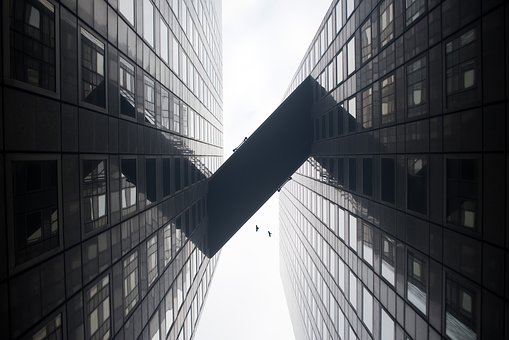 Building, Structure, Sky, Infrastructure, Birds, Flying