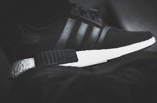 Adidas, Nmd, Fashion, Shoes, Sole, Black, White
