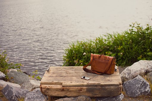 Bag, Leather, Wooden, Outdoor, Mobile, Phone, Water