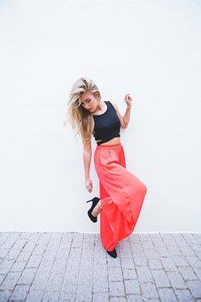 Woman, Girl, Lady, Clothing, Shoes, Bricks, Fashion