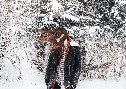 People, Woman, Lady, Hair, Model, Snow, Ice, Cold