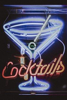 Lights, Dark, Night, Evening, Restaurant, Bar