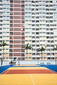 Hotel, Building, City, Urban, Guy, Player, Man