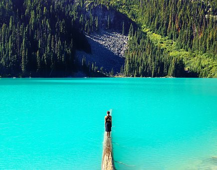 People, Woman, Girl, Lady, Mountain, Forest, Water