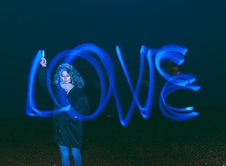 Love, Long Exposure, Bulb, Art, People, Woman, Dark