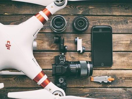 Technology, Drone, Camera, Cellphone, Lens, Picture