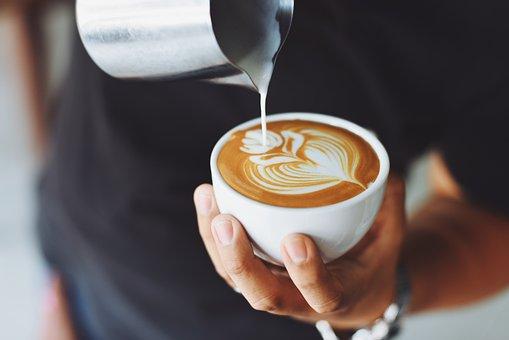 Coffee, Cafe, Hot, Mug, Cup, White, Milk, Shop