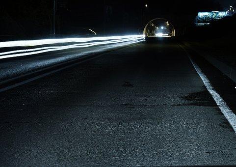 Long Exposure, Car, Transportation, Photography, Dark